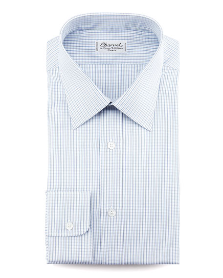 Mini-Check Dress Shirt