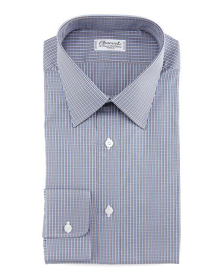 Micro-Check Dress Shirt