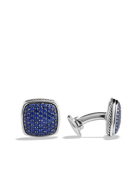 Pavé Cuff Links with Sapphires