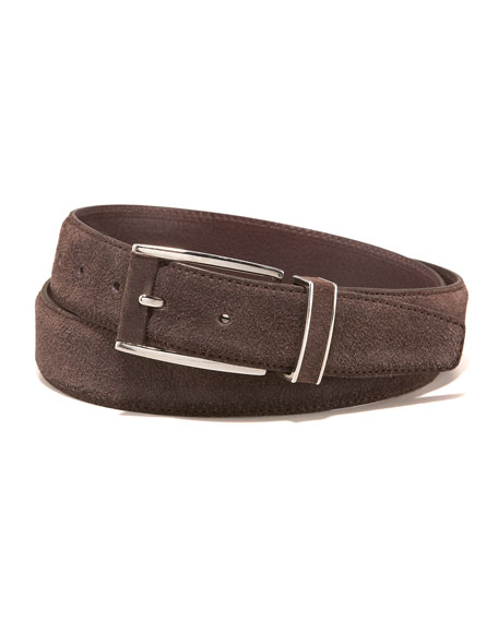 Suede Belt, Brown