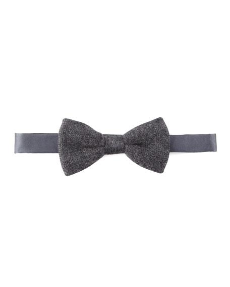 Cashmere Bow Tie, Gray