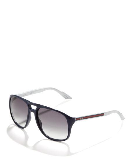 Plastic Aviator Sunglasses, Blue
