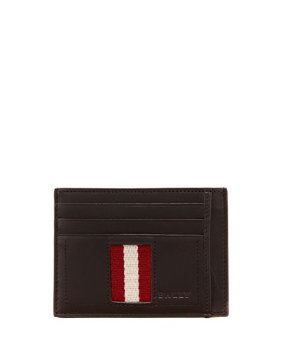 Bally Web-Trim Flat Credit Card Holder