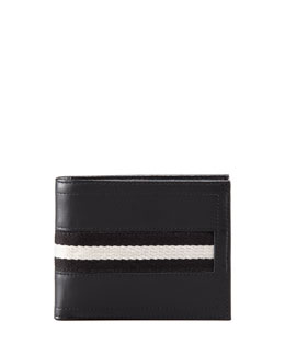 Bally Web-Trim Wallet, Black