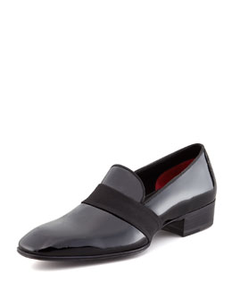 Tom Ford Grosgrain-Trim Patent Loafer