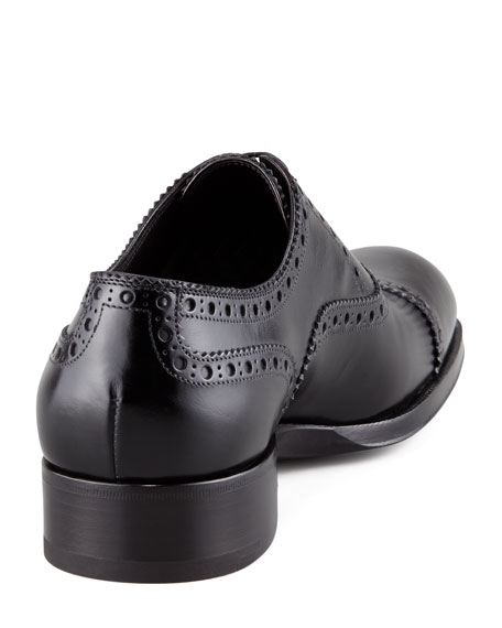 Edward Brogue-Trim Oxford, Black