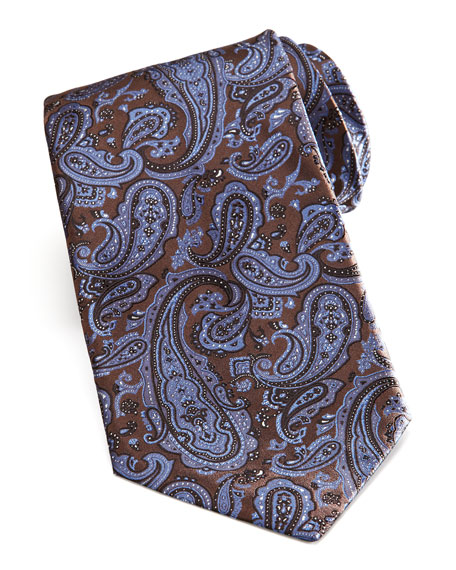 Paisley Tie, Brown/Blue