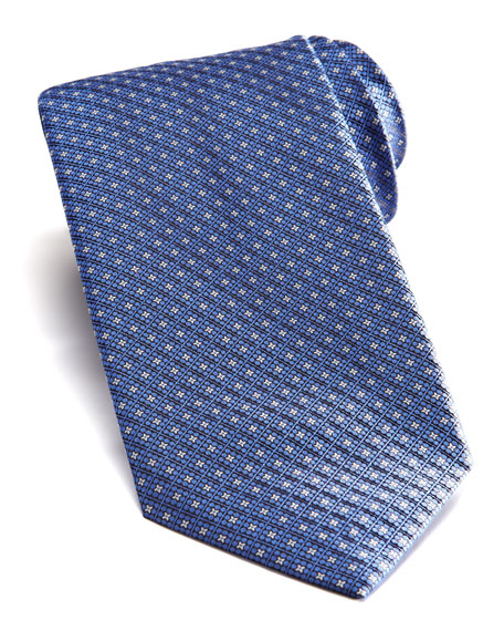 Square Neats Silk Tie