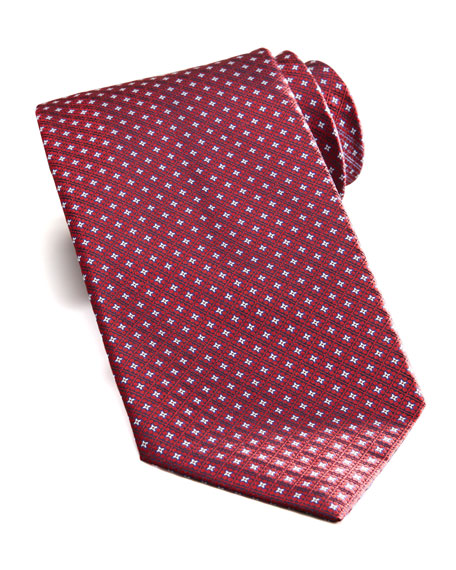 Square & Neat Tie, Red