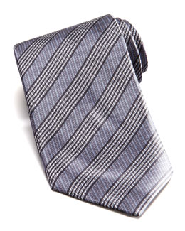 Stefano Ricci Mixed Stripe Silk Tie, Gray
