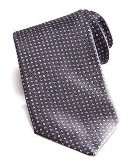 Stefano Ricci Square & Neat Tie, Gray/Brown