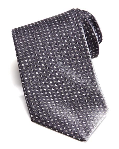 Square & Neat Tie, Gray/Brown