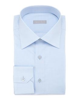 Stefano Ricci Basic Barrel-Cuff Dress Shirt, Blue