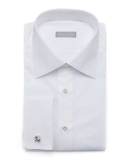 Stefano Ricci Basic French-Cuff Dress Shirt, White