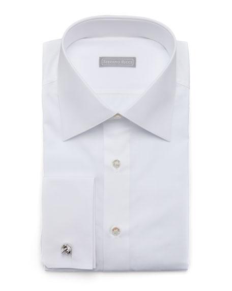 Basic French-Cuff Dress Shirt, White