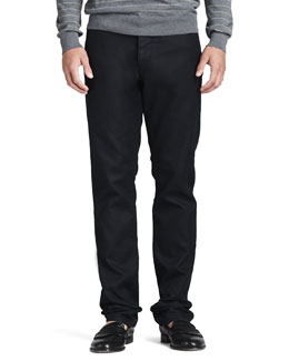 Theory Slim Five-Pocket Pants, Black