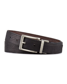 "W.KLEINBERG 1 1/8"" Reversible Lizard Belt"