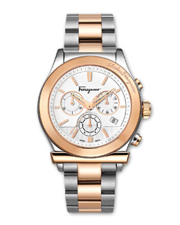 Salvatore Ferragamo Two-Tone Classic Chronograph Watch