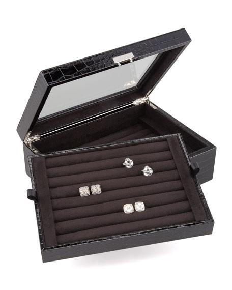 Double-Layer Cuff-Link Box