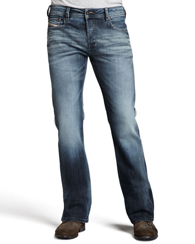 Diesel Zathan Faded Boot-Cut Jeans