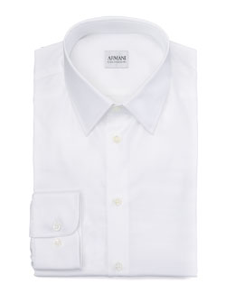 Armani Collezioni Modern Fit Dress Shirt, White