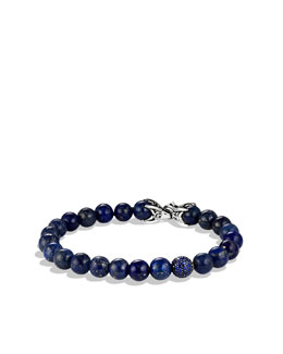 David Yurman Spiritual Beads Bracelet with Lapis Lazuli and Sapphires