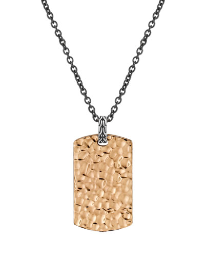John Hardy Hammered Tag Necklace