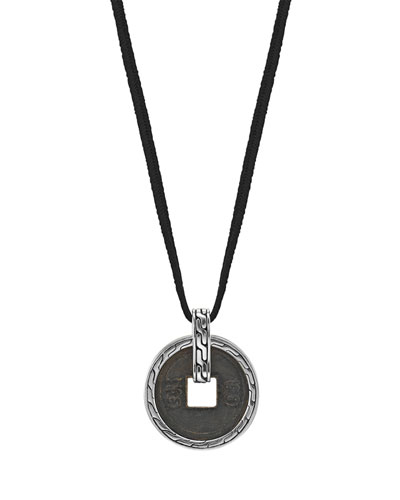 John Hardy Ancient Coin Cord Necklace