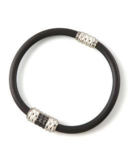John Hardy Black Sapphire Rubber Bracelet