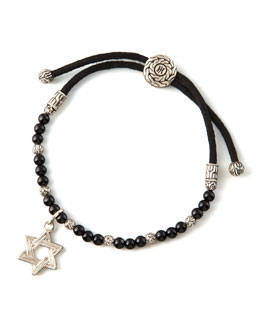 John Hardy Star of David Charm Bracelet