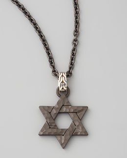 John Hardy Blackened Star of David Necklace