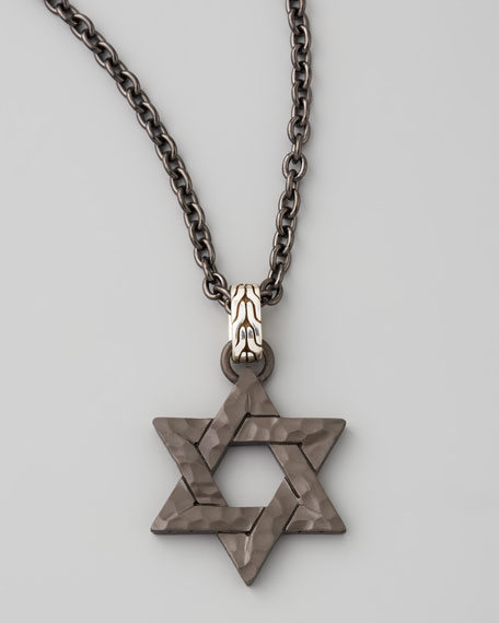 Blackened Star of David Necklace