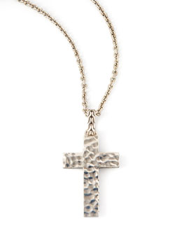 John Hardy Blackened Palu Cross Necklace