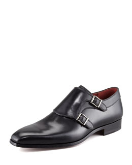 Magnanni for Neiman Marcus Double-Monk Loafer