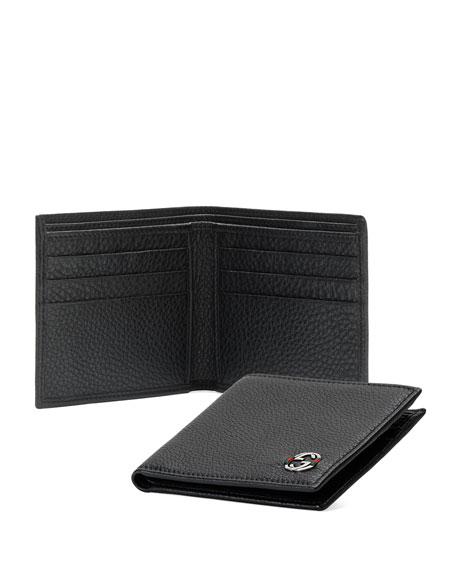 Ace Leather Bi-Fold Wallet, Black