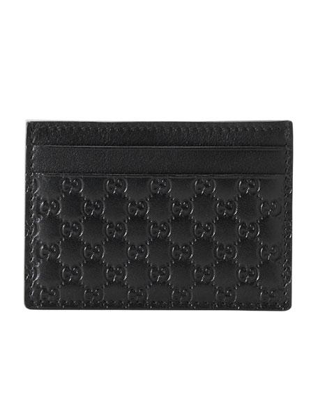 Micro-Guccissima Leather Money Clip