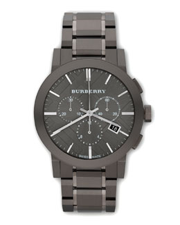 Burberry Classic Chronograph Watch, Gunmetal