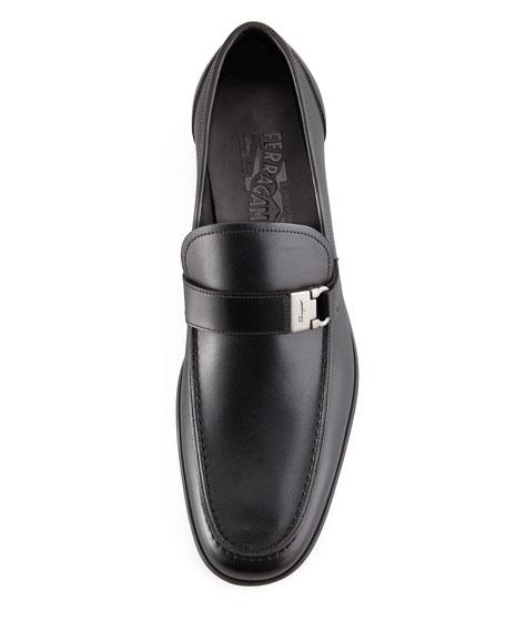 Tazio Side Ornament Loafer, Black