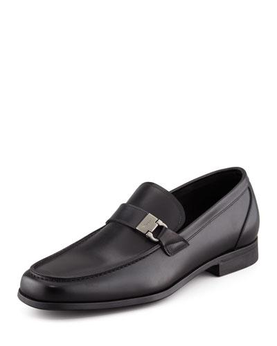 Salvatore Ferragamo Tazio Side Ornament Loafer, Black