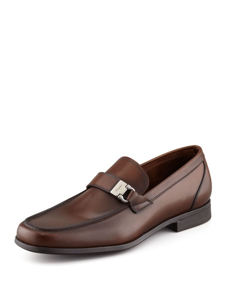 Tazio Side Ornament Loafer, Brown