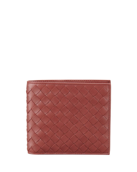 Basic Woven Wallet, Red