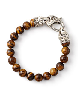 Stephen Webster Tiger's Eye Bead Bracelet, 10mm