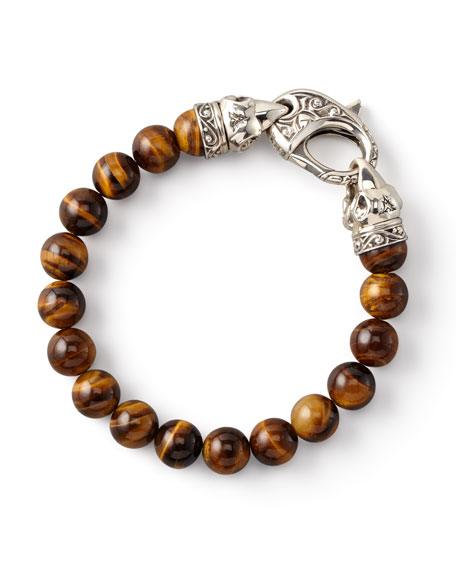 Tiger's Eye Bead Bracelet, 10mm