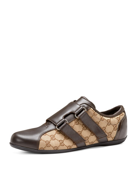 Gucci Dragon Leather/Canvas Sneaker