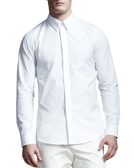 Covered-Placket Shirt