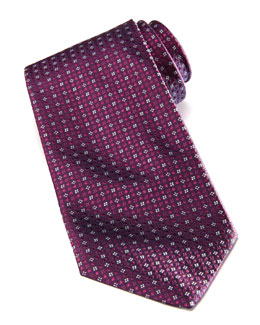 Salvatore Ferragamo Micro-Flower Silk Tie, Purple