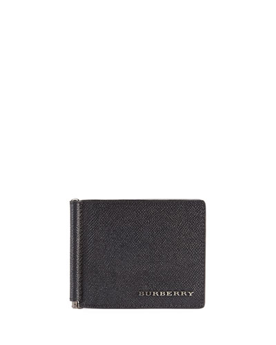 Burberry Pebbled Clip Wallet