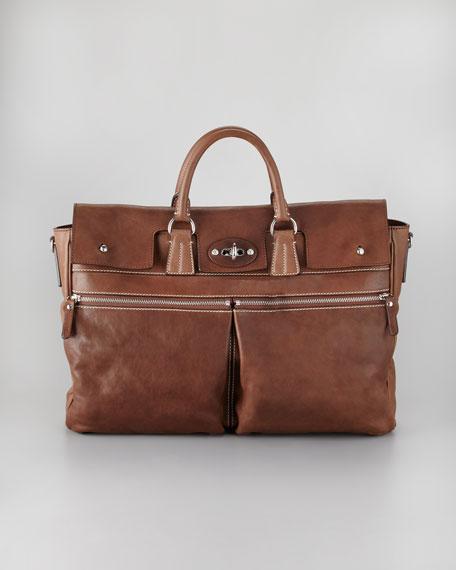 Flap-Front Zip-Front Briefcase
