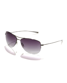 Oliver Peoples Rimless Strummer Aviator Sunglasses