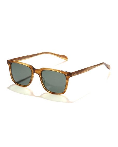 Nom de Guerre Square Plastic Sunglasses